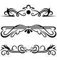 Set calligraphic design elements vector