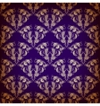 Damask seamless on violet background vector