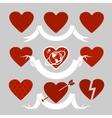 Set of symbols heart vector