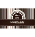 Brown decorative business card vector