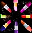 Abstract lipsticks vector
