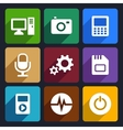 Multimedia flat icons set 9 vector