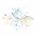 Grunge floral vine vector