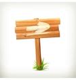 Wooden sign arrow vector