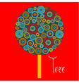 Abstract tree made of plenty colorful circles vector