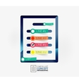 Check list infographic concept vector