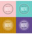 Set of menu card designs vector