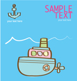 Creative with a pink submarine vector