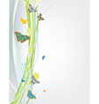 Abstract spring background with butterfly vector