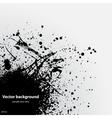 Black grunge ink blot vector