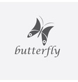 Abstract cute butterfly design template vector