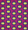 Sixties retro seamless pattern vector