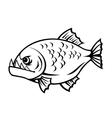 Angry piranha vector