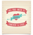 All you need is love quote vintage american design vector