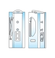 Shower front side view vector