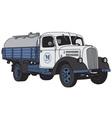 Old dairy truck vector