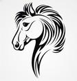 Horse head tribal vector