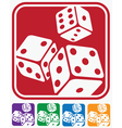 Icons dice vector