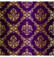 Gold-on-purple seamless vector