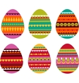 Patterned easter eggs vector