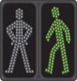 Led semafor zeleno ukljuceno resize vector