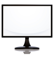 Computer monitor with blank white vector
