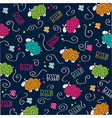 Cute seamless pattern with sheeps vector