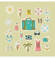 Collection of icons on vacation vector