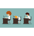 Businessman working time vector