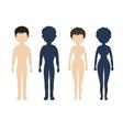 Human body in flat style women men character vector