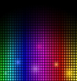 Modern abstract background colorful lights on blac vector