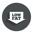 Low fat sign icon salt sugar food symbol vector