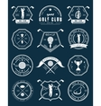 Set of logos and labels sports games - golf vector