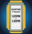 Showtime retro cinema neon sign vector