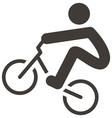 Cycling bmx icon vector