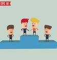 Business man hand shake - - eps10 vector