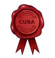 Product of cuba wax seal vector