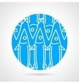 Sea fish blue round icon vector
