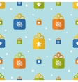 Flat seamless pattern with presents vector