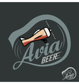 Glass of beer in form of airplane vintage label vector