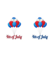 Independence day balloons vector