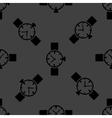 Watchclock web icon flat design seamless gray vector