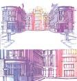 Old city street vector