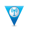 Wi fi icon map pointer blue vector