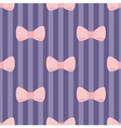 Seamless pastel pink bows stripes blue background vector