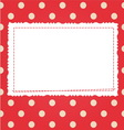 Scrap card with polka dot and frame vector