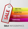 Sale infographics vector