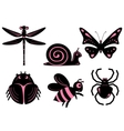 Funny stylized insects vector