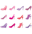 Shoes female on a white background vector