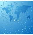 Save world water concept background vector